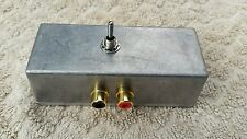 ASPHO1MET Audio switcher RCA phono connectors, switch between 2 stereo devices