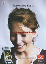 "Vodafone Live! ""Video Calling Live it"" 2005 Magazine Advert #3532"
