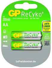 2x batería AA Mignon gp recyko + ready 2use NiMH mín. 2000 mAh de 2er blister