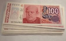 Lot Of -100 AUSTRALES BANCO CENTRAL DE LA REPUBLICA ARGENTINA 1985