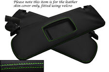 GREEN STITCH FITS AUDI A4 CABRIO CONVERTIBLE 2007-2009 2X SUN VISORS COVERS