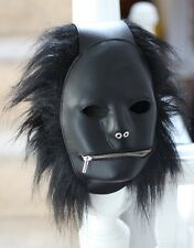 Rockin' Leather Fetish Mask Gimp Hood for a sub or Master by Ledapol S M to L