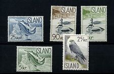 Iceland #319-323 (IC355) Complete 1959-1960 Ducks and Fish, M, LH,FVF, CV$29.70