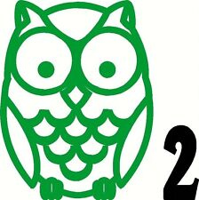 Owl vinyl sticker decal car truck window glass wall hoot wise bumper #2