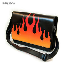 IRON FIST Ladies Handbag Gothic Hand Bag FIRE SIGN Flames PU
