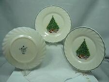 3 Plates - Noel Porcelle House of Salem - Christmas Tree & Toys, 7 3/4 in dia.