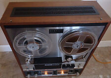 VINTAGE TEAC A-6010 AUTO REVERSE REEL TO REEL TAPE DECK W/COVER - USED