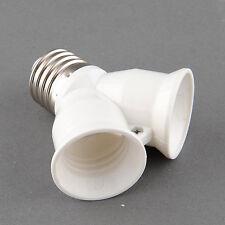 E27 Splitter to Dual E27 Base LED Light Lamp Bulb Adapter Converter Screw Socket