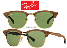 Ray-Ban Sunglasses RB3016M 11824E CLUBMASTER WOOD  Collection 100% Authentic