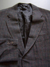POLO RALPH LAUREN TWEED SPORTS JACKET MEN'S LARGE 2 BUTTON GREY VINTAGE RLP435