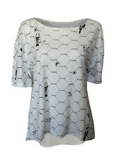 Birds Butterflies, flowers on wire print top Tshirt womens ladies oversized