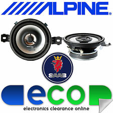 "SAAB 9-5 9.5 ALPINE 8.7cm 3.5"" 300 Watts 2 Way Front Top Dashboard Car Speakers"