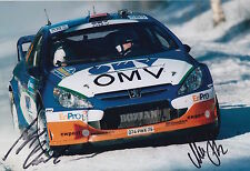 Manfred Stohl and Ilka Minor Hand Signed 12x8 Photo Citroen Xsara Rally 3.