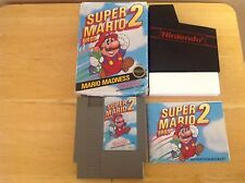 Super Mario Bros. 2 w/ Box, Manual, Sleeve & Styrofoam - Nintendo NES - 2B