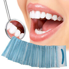 100x Dental Care Oral Brush Up Wipe Deep Cleaning Teeth Whitening Wipes Mint New