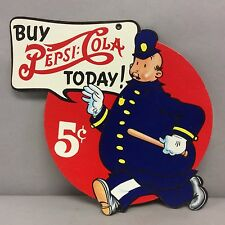 5 Cent Pepsi Advertising Sign, New Old Stock, Cardboard 13&1/4 Inches Tall