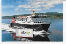 CALEDONIAN MACBRAYNE CAR FERRY LORD OF THE ISLES 1989 TO ISLE OF SKY POSTCARD