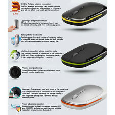 New Ultra-Slim Mini USB 2.4G 2.4GHZ Wireless Optical Mouse MIC 1600 DPI HOT FT