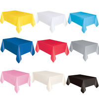 Plastic Table Cover Cloth Wipe Clean Party Tablecloth Round/Rectangle Covers