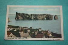 Vintage Postcard Perce Rock, P.Q. From The South