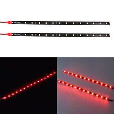 2PC 30cm Car Motorcycle 5050 12SMD LED Soft Rubber Strip Eyebrows Lights 5Colors