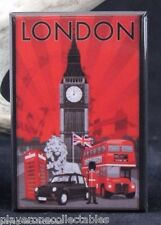 "London Vintage Travel Poster 2"" X 3"" Fridge / Locker Magnet. England UK"