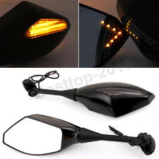 Black Mirrors LED Turn Signal For 2008 2009 2010 2011 Honda CBR600RR CBR 600 RR