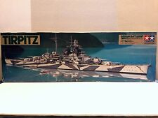 Tamiya 1:350 Scale German Battleship Tirpitz Motorized Plastic Model Kit WS003
