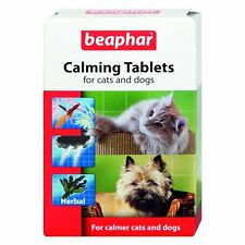 NEW Calming Tablets Cat & Dog Reduce Stress Anxiety Feliway Noise Phobia