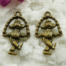 Free Ship 80 pieces bronze plated Mickey Mouse charms 23x13mm #505