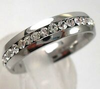 12 X Full CZ inside comfortable  stainless steel rings  job  lots wholesale