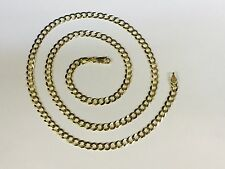 """14k Solid Yellow Gold Comfort Curb 22"""" 4.7 MM 13 GRAMS  chain/Necklace CC120"""