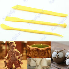 3pcs Plastic Mud Fimo Pottery Polymer Clay Ceramics Modeling Sculpture Tool