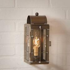 Country new weathered brass CAPECOD outdoor sconce lantern light / nice