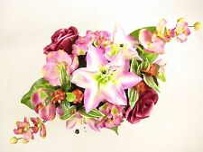 50cm Artificial Flowers Pink Lily Rose Hydrangea Orchid Mixed Table Centrepiece