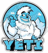 "Bigfoot Sasquatch Yeti Snowman Funny Car Bumper Vinyl Sticker Decal 4""X5"""