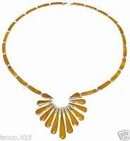 TAXCO MEXICAN 950 SILVER AMBER NECKLACE MEXICO