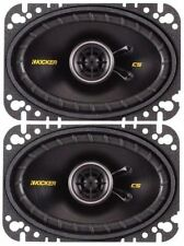 "Kicker 40CS464 6""x4"" Car Speakers Coaxial 2 way 150w 1 Pair"