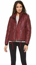 NWOT $595 Helmut Lang Boxy Puffer Down Jacket Coat Red Oxblood Burgundy M