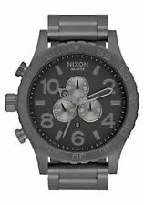 New Authentic Nixon 51-30 Chrono Matte Black Gunmetal Watch A083-1062 A0831062
