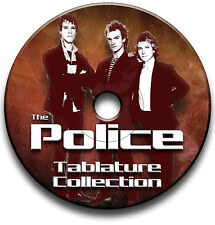 THE POLICE STING ROCK POP GUITAR TABS TABLATURE SONG BOOK SOFTWARE LIBRARY CD