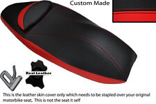 RED & BLACK CUSTOM FITS HONDA PCX 125 10-13 DUAL LEATHER SEAT COVER