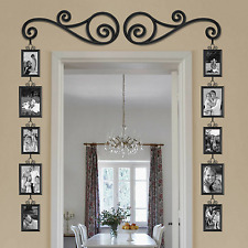 12-Piece Over The Door Mirror Scroll Photo Frame Set Gallery Wall Art Home Decor