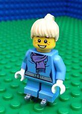 Lego City Town GIRL ICE SKATER Skates Skater Blades Female Minifig Minifigure