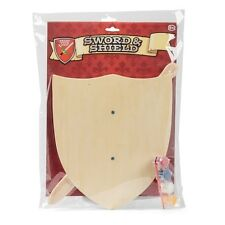 Paint Your Own Wooden Shield & Sword Toy - Assorted Designs (1 Supplied)