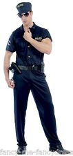 Mens Special Agent Police Officer FBI SWAT Uniform Fancy Dress Costume Outfit