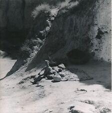 GUADIX QUARTIER SANTIAGO c. 1950 - Enfant assis  Citrouilles Espagne - DIV 7108