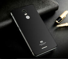 Luxury Aluminum Bumper Tempered Glass Back Cover Case For Xiaomi Redmi Note 3