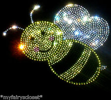 """6.5"""" clear Bumblebee iron on rhinestone transfer for Bumble BEE costume t shirt"""