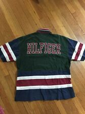 Vintage Tommy Hilfiger Spellout Polo Sz Xl Sailing Gear Athletic Rare Lotus